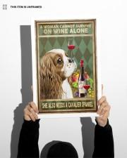 WOMAN ALSO NEEDS A CAVALIER SPANIEL DOG 11x17 Poster aos-poster-portrait-11x17-lifestyle-36