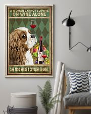 WOMAN ALSO NEEDS A CAVALIER SPANIEL DOG 11x17 Poster lifestyle-poster-1