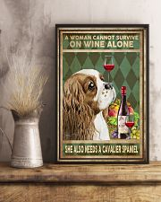 WOMAN ALSO NEEDS A CAVALIER SPANIEL DOG 11x17 Poster lifestyle-poster-3