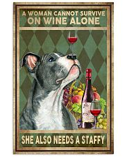WOMAN ALSO NEEDS A STAFFORDSHIRE BULL TERRIER 11x17 Poster front