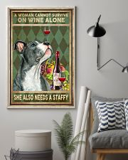 WOMAN ALSO NEEDS A STAFFORDSHIRE BULL TERRIER 11x17 Poster lifestyle-poster-1
