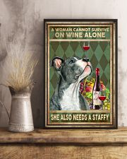 WOMAN ALSO NEEDS A STAFFORDSHIRE BULL TERRIER 11x17 Poster lifestyle-poster-3