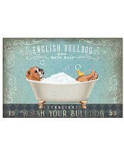 BULLDOG TAKE A BATH IN BATHROOM 17x11 Poster front