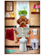 POODLE PUPPY SITTING ON A TOILET 11x17 Poster front