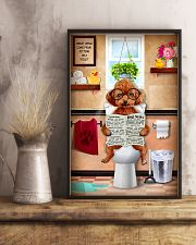 POODLE PUPPY SITTING ON A TOILET 11x17 Poster lifestyle-poster-3