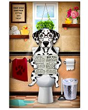 DALAMATIAN PUPPY SITTING ON A TOILET 11x17 Poster front