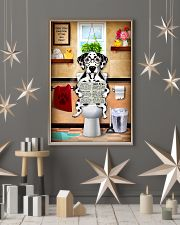 DALAMATIAN PUPPY SITTING ON A TOILET 11x17 Poster lifestyle-holiday-poster-1