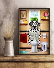 DALAMATIAN PUPPY SITTING ON A TOILET 11x17 Poster lifestyle-poster-3