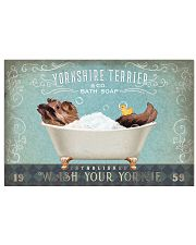YORKSHIRE TERRIER PUPPY RELAX ON BATH TUB 17x11 Poster front