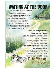 AUSTRALIAN SHEPHERD DOG WAITTING AT THE DOOR 11x17 Poster front