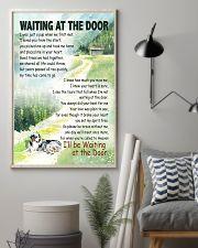 AUSTRALIAN SHEPHERD DOG WAITTING AT THE DOOR 11x17 Poster lifestyle-poster-1