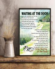 AUSTRALIAN SHEPHERD DOG WAITTING AT THE DOOR 11x17 Poster lifestyle-poster-3