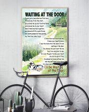 AUSTRALIAN SHEPHERD DOG WAITTING AT THE DOOR 11x17 Poster lifestyle-poster-7