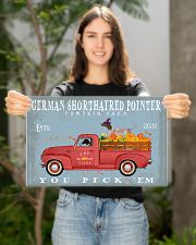 GERMAN SHORTHAIRED POINTER RED TRUCK PUMPKIN FARM 17x11 Poster poster-landscape-17x11-lifestyle-19