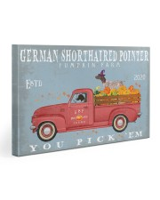 GERMAN SHORTHAIRED POINTER RED TRUCK PUMPKIN FARM Gallery Wrapped Canvas Prints tile