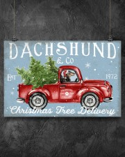 DACHSHUND DOG RED TRUCK CHRISTMAS 17x11 Poster aos-poster-landscape-17x11-lifestyle-12