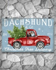 DACHSHUND DOG RED TRUCK CHRISTMAS 17x11 Poster aos-poster-landscape-17x11-lifestyle-13