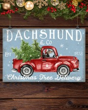 DACHSHUND DOG RED TRUCK CHRISTMAS 17x11 Poster aos-poster-landscape-17x11-lifestyle-27