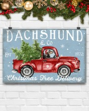 DACHSHUND DOG RED TRUCK CHRISTMAS 17x11 Poster aos-poster-landscape-17x11-lifestyle-28