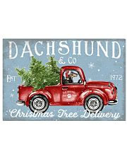DACHSHUND DOG RED TRUCK CHRISTMAS 17x11 Poster front