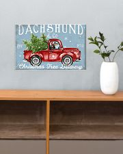 DACHSHUND DOG RED TRUCK CHRISTMAS 17x11 Poster poster-landscape-17x11-lifestyle-24