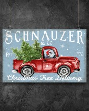 SCHNAUZER DOG RED TRUCK CHRISTMAS 17x11 Poster aos-poster-landscape-17x11-lifestyle-12