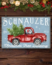 SCHNAUZER DOG RED TRUCK CHRISTMAS 17x11 Poster aos-poster-landscape-17x11-lifestyle-27