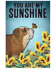 CUTE BULLDOG PUPPIES YOU ARE MY SUNSHINE 11x17 Poster front
