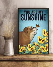 CUTE BULLDOG PUPPIES YOU ARE MY SUNSHINE 11x17 Poster lifestyle-poster-3