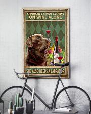WOMAN ALSO NEEDS A LABRADOR DOG 11x17 Poster lifestyle-poster-7