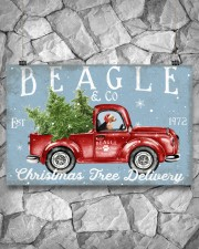 BEAGLE DOG RED TRUCK CHRISTMAS 17x11 Poster aos-poster-landscape-17x11-lifestyle-13
