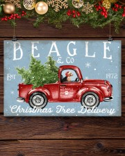 BEAGLE DOG RED TRUCK CHRISTMAS 17x11 Poster aos-poster-landscape-17x11-lifestyle-27