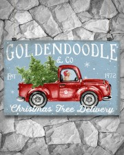 GOLDENDOODLE DOG RED TRUCK CHRISTMAS 17x11 Poster aos-poster-landscape-17x11-lifestyle-13