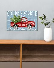 GOLDENDOODLE DOG RED TRUCK CHRISTMAS 17x11 Poster poster-landscape-17x11-lifestyle-24