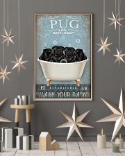PUG PUPPY SITTING ON BATH SOAP 11x17 Poster lifestyle-holiday-poster-1