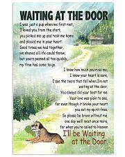 BORDER TERRIER DOG WAITTING AT THE DOOR 11x17 Poster front