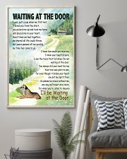 BORDER TERRIER DOG WAITTING AT THE DOOR 11x17 Poster lifestyle-poster-1