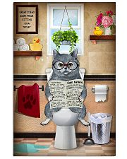 BRITISH SHORTHAIR CAT SITTING ON A TOILET 11x17 Poster front