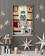 BRITISH SHORTHAIR CAT SITTING ON A TOILET 11x17 Poster lifestyle-holiday-poster-1
