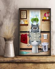 BRITISH SHORTHAIR CAT SITTING ON A TOILET 11x17 Poster lifestyle-poster-3