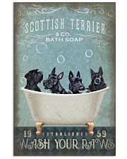 SCOTTISH TERRIER PUPPIES SITTING ON A BATH SOAP 11x17 Poster front