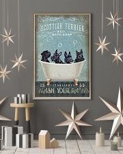 SCOTTISH TERRIER PUPPIES SITTING ON A BATH SOAP 11x17 Poster lifestyle-holiday-poster-1