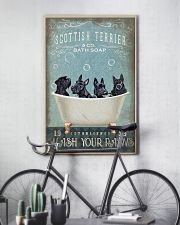 SCOTTISH TERRIER PUPPIES SITTING ON A BATH SOAP 11x17 Poster lifestyle-poster-7