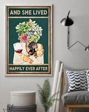 DACHSHUND DOG AND SHE LIVED HAPPILY EVER AFTER 11x17 Poster lifestyle-poster-1