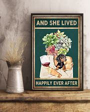 DACHSHUND DOG AND SHE LIVED HAPPILY EVER AFTER 11x17 Poster lifestyle-poster-3