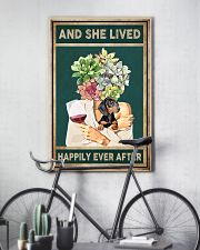 DACHSHUND DOG AND SHE LIVED HAPPILY EVER AFTER 11x17 Poster lifestyle-poster-7