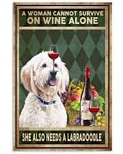 WOMAN ALSO NEEDS A LABRADOODLE 11x17 Poster front