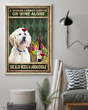 WOMAN ALSO NEEDS A LABRADOODLE 11x17 Poster lifestyle-poster-1