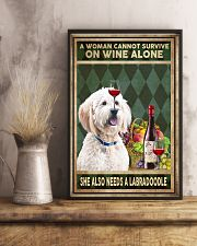 WOMAN ALSO NEEDS A LABRADOODLE 11x17 Poster lifestyle-poster-3