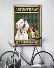 WOMAN ALSO NEEDS A LABRADOODLE 11x17 Poster lifestyle-poster-7